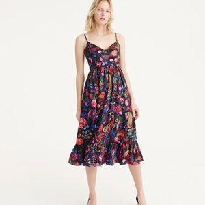 J. Crew Ratti Paisley Floral Dress